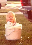 Kate Bolin as a toddler